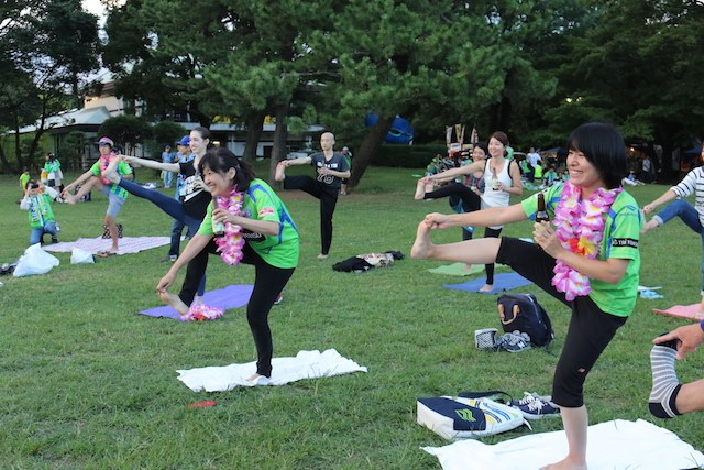 Shonan Bellmare Beer Yoga