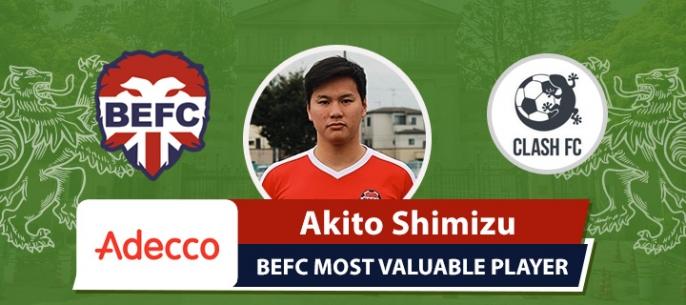 Adecco BEFC MVP vs Clash - Akito Shimizu