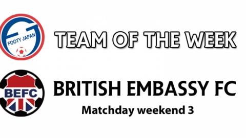 Footy Japan TML Team of the Week - British Embassy Football Club