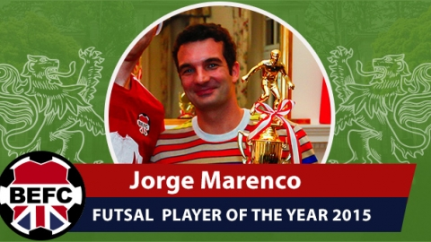 BEFC Futsal Player of the Year Award 2015 - Jorge Marenco