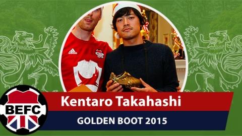 BEFC Golden Boot 2015 - Kentaro Takahashi