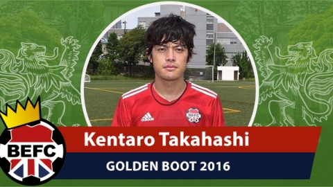BEFC Golden Boot 2016 - Kentaro Takahashi