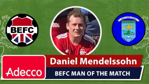 Adecco BEFC Man of the Match Award - Daniel Mendelssohn