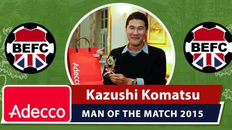 BEFC Adecco Man of the Match 2015 - Kazushi Komatsu