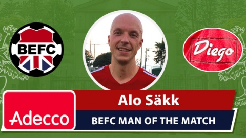Adecco BEFC Man of the Match Award - Alo Säkk