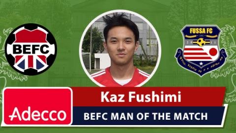 Adecco BEFC Man of the Match Award - Kaz Fushimi