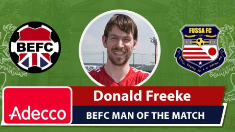 Adecco BEFC Man of the Match Award - Donald Freeke