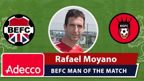 Adecco BEFC Man of the Match Award - Rafael Moyano