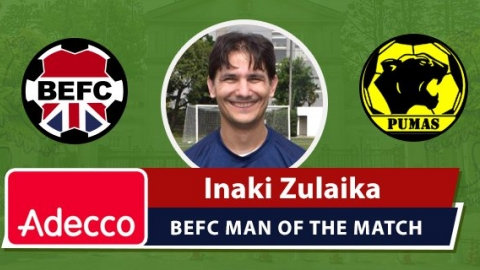 Adecco BEFC Man of the Match Award - Inaki Zulaika