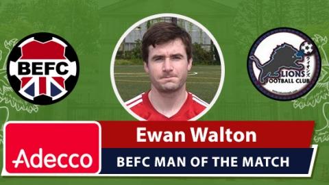 Adecco BEFC Man of the Match Award - Ewan Walton