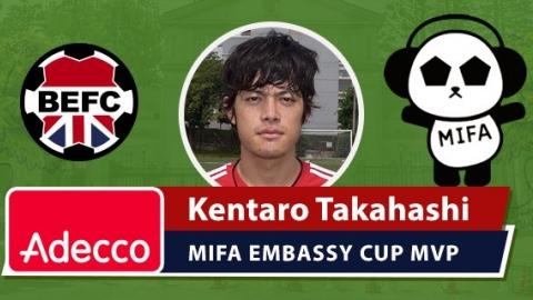 Adecco BEFC MIFA Embassy Cup MVP - Kentaro Takahashi