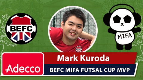 Adecco BEFC Man of the Match Award - Mark Kuroda