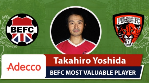 Adecco BEFC Most Valuable Player vs Pumas - Taka Yoshida