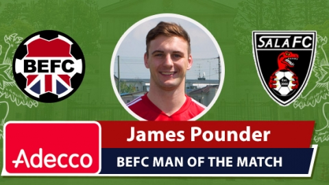 Adecco BEFC Man of the Match Award - James Pounder