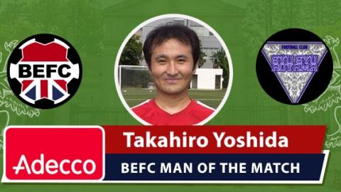 Adecco BEFC Man of the Match Award - Takahiro Yoshida