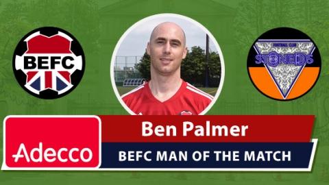 Adecco BEFC Man of the Match Award - Ben Palmer