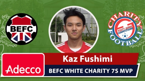 Adecco BEFC Man of the Match Award - Kaz Fushimi