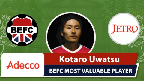 Adecco BEFC MVP vs JETRO - Kotaro Uwatsu