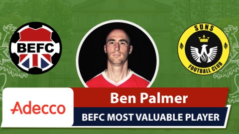 Adecco BEFC Most Valuable Player vs SUNS - Ben Palmer