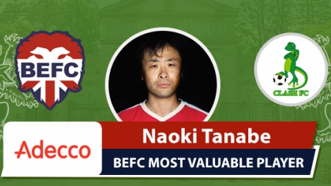 Adecco BEFC Most Valuable Player vs Clash - Naoki Tanabe