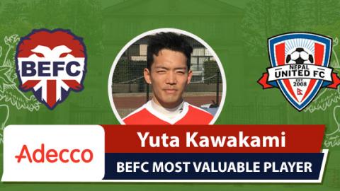 Adecco BEFC MVP vs Nepal - Yuta Kawakami