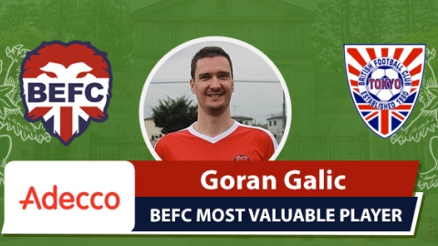 Adecco BEFC Most Valuable Player vsBFC Vagabonds - Goran Galic