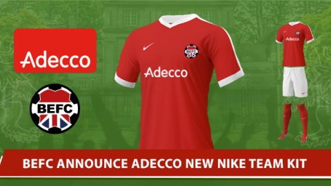 BEFC x Adecco and Nike Japan new 2017 Team Kit