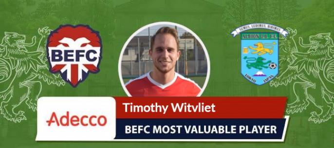 Timothy Witvliet Adecco MVP Albion Old Boys