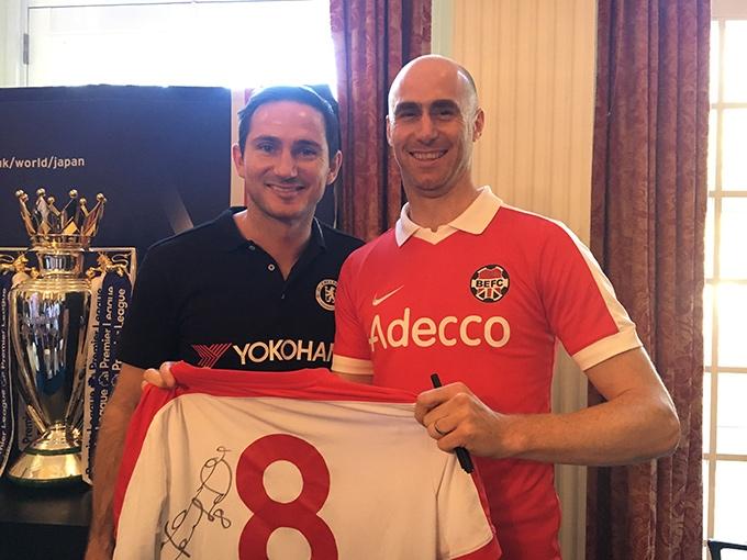 BEFC meets Frank Lampard in Tokyo, Japan