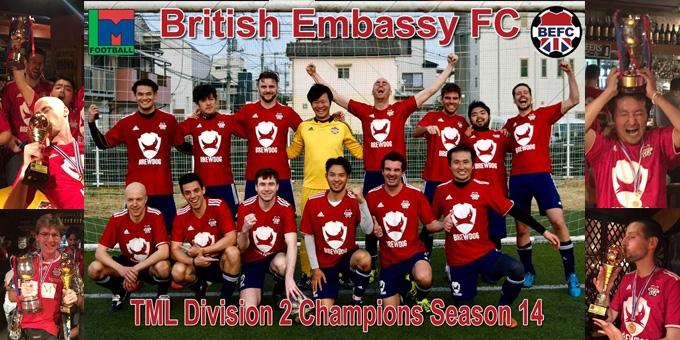 BEFC TML 14 Division 2 Champions Tokyo Japan 2017