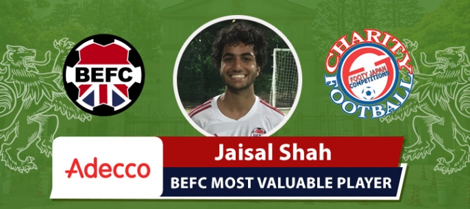 Adecco BEFC White MVP FCJ Charity 7s - Jaisal Shah