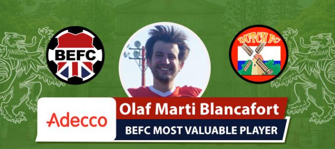 Adecco BEFC MVP vs Dutch FC - Olaf Marti Blancafort