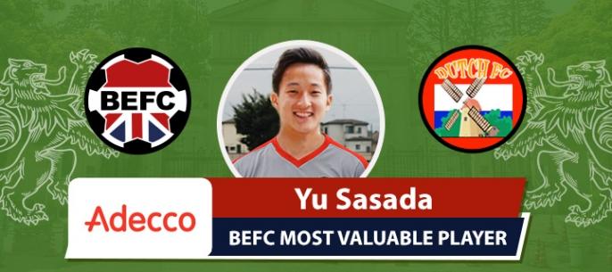 Adecco BEFC MVP vs Dutch FC - Yu Sasada