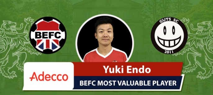 Adecco BEFC Most Valuable Player vs GUTS SC - Yuki Endo