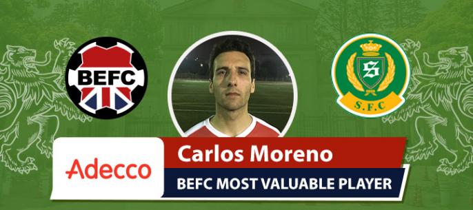 Adecco BEFC MVP vs Shane FC - Carlos Moreno
