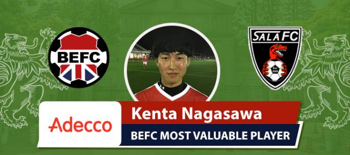 Adecco BEFC MVP vs Sala FC - Kenta Nagasawa