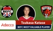 Adecco BEFC Most Valuable Player - Tsukasa Katase