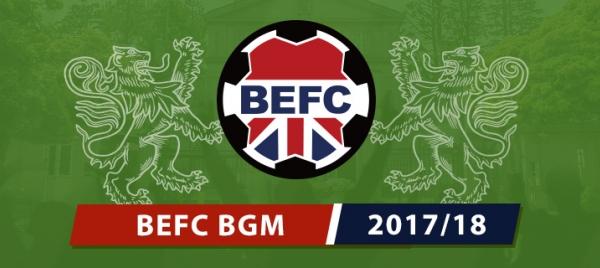 BEFC Mid Season General Meeting 2018