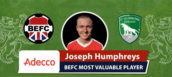 Adecco BEFC MVP vs FC Sagarmatha - Joseph Humphreys
