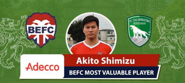Adecco MVP BEFC Lions vs Sagarmatha - Akito Shimizu