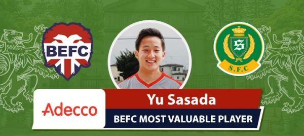 Adecco BEFC Most Valuable Player vs Shane FC - Yu Sasada