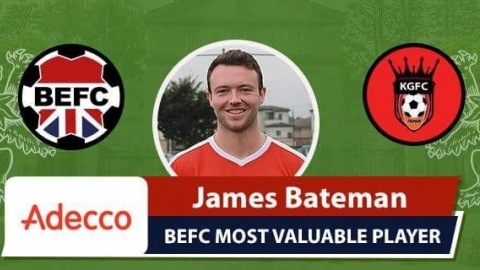 James Bateman Adecco Man of the Match King George