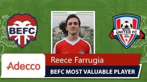 Reece Farrugia MVP vs Nepal United