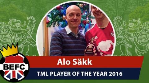 BEFC POTY Awards 2016 - Alo Säkk