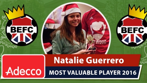 Adecco BEFC Most Valuable Player 2016 - Natalie Guerrero
