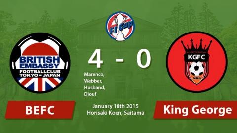 British Embassy Football Club 4 - 0 King George Horisaki Koen Saitama