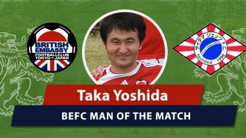 BEFC vs Jets - MOM Taka Yoshida