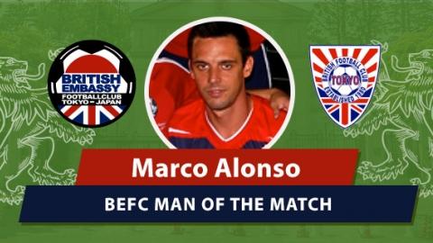 BEFC vs Vagabonds MOM - Marco Alonso