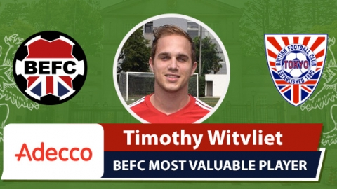 Adecco BEFC Most Valuable Player vs BFC - Timothy Witvliet