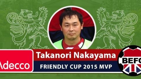 BEFC Friendly Cup 2015 - Adecco MVP Award Takanori Nakayama